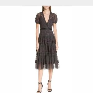 Needle and Thread Layered Lace Dress